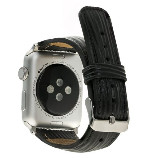 Apple Watch Lederarmband 42mm / 44 mm in Epi Schwarz