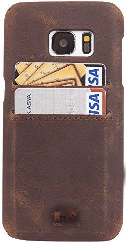 "Samsung Galaxy S7 Edge ""Pomona"" Leder Hülle Tasche Lederhülle Ledertasche Backcover in Vintage Braun"