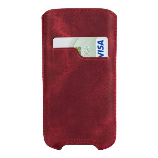 "iPhone XS Max / 7 Plus / 8 Plus Hülle - ""Ohio"" - Vintage Rot aus Leder"