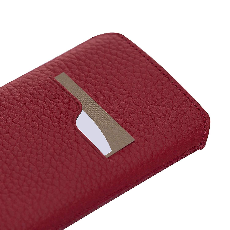 iPhone XS MAX / 7 Plus / 8 Plus Lederhülle in Floater Rot