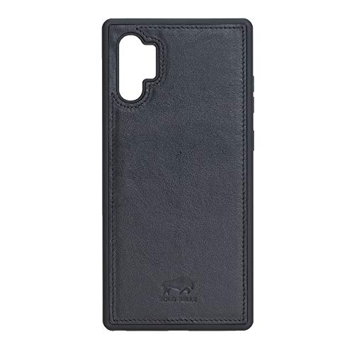 Solo Pelle Lederhülle für das Samsung Galaxy Note 10 Plus/Note 10+ 5G Hülle, Schutzhülle aus echtem Leder, Model: Stanford (Schwarz)
