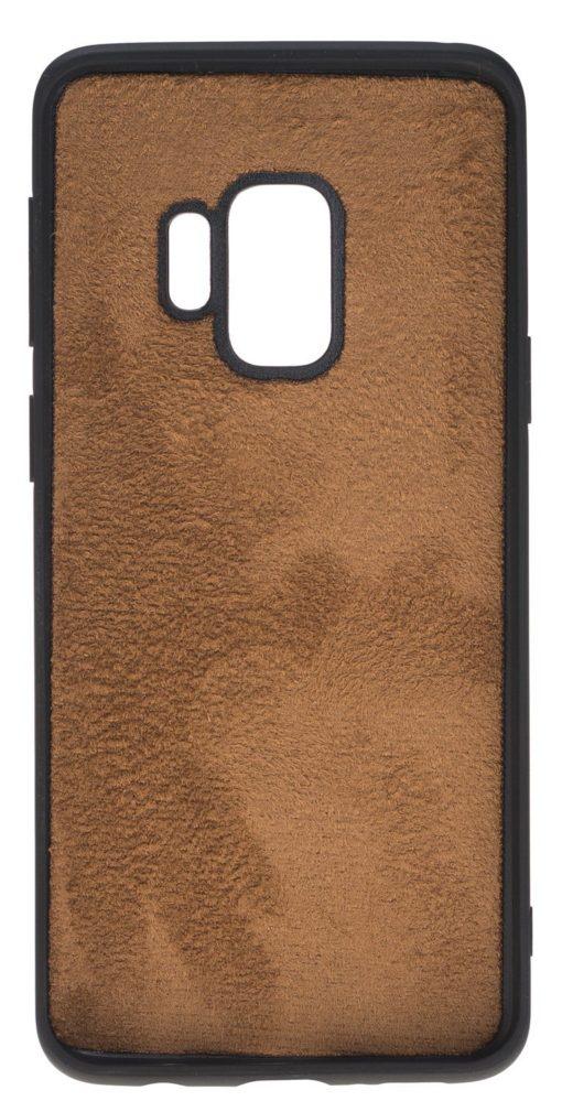 "Samsung Galaxy S9 Hülle aus echt Leder in Cognac Braun Burned | ""Flex"""