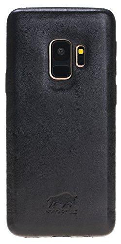 Samsung Galaxy S9 Lederhülle Ultra Cover aus in Schwarz