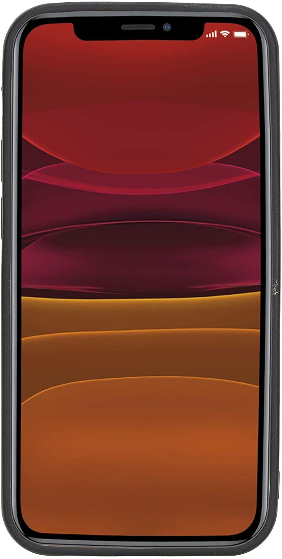 "iPhone 12 Mini Lederhülle ""Stanford"" MagSafe kompatibel (Cognac Braun)"