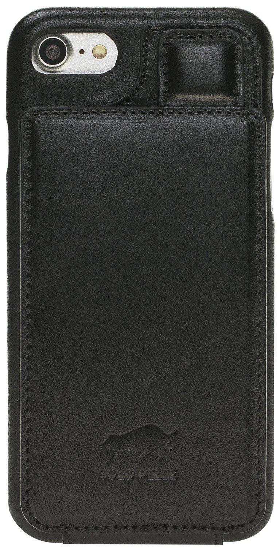 """iPhone 8/7/7S Hülle - """"Ultra Holder"""" mit 360 Grad Schutz - Schwarz aus Leder"""