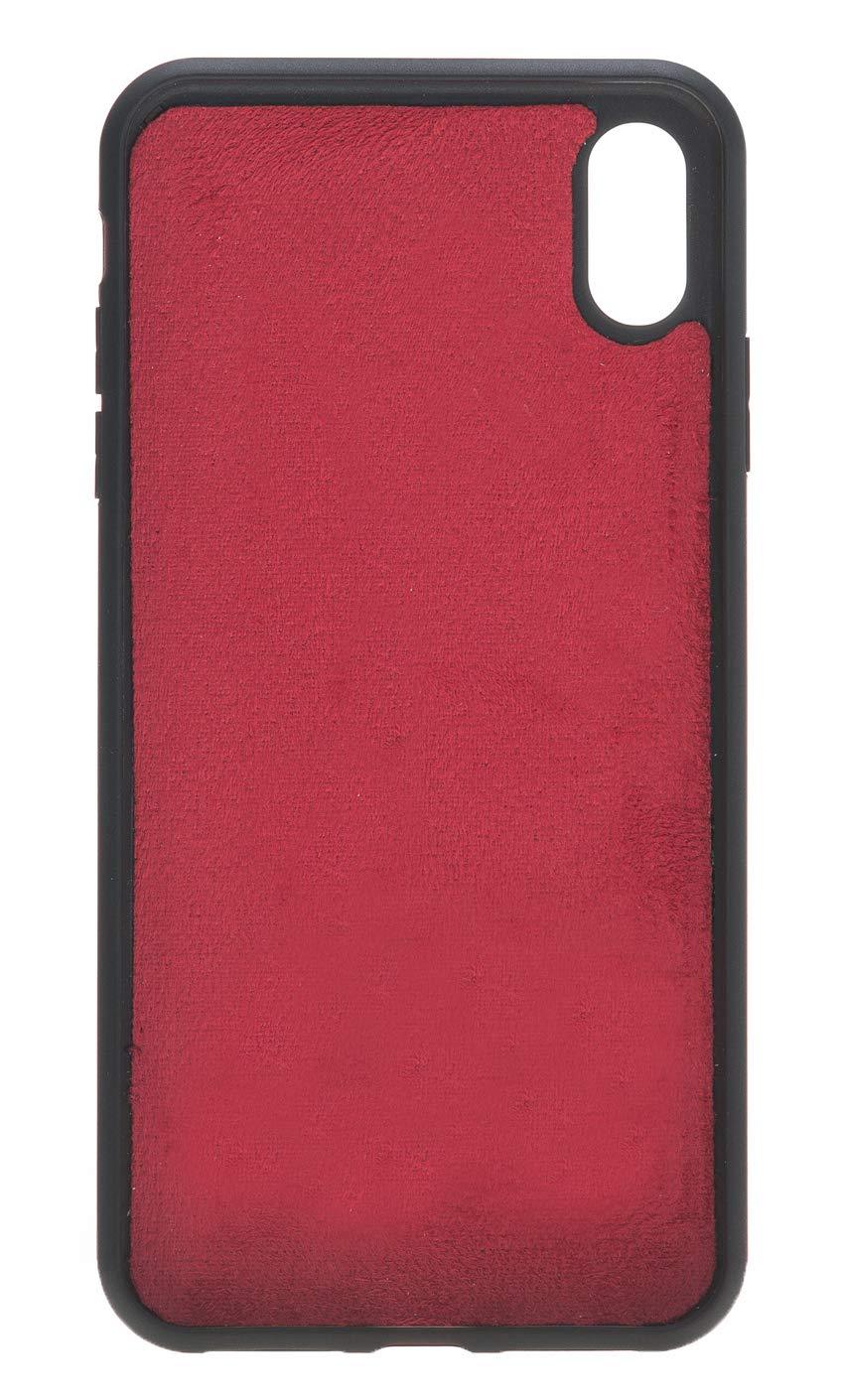 "iPhone XS Max abnehmbare Lederhülle ""Darian"" in Rot"