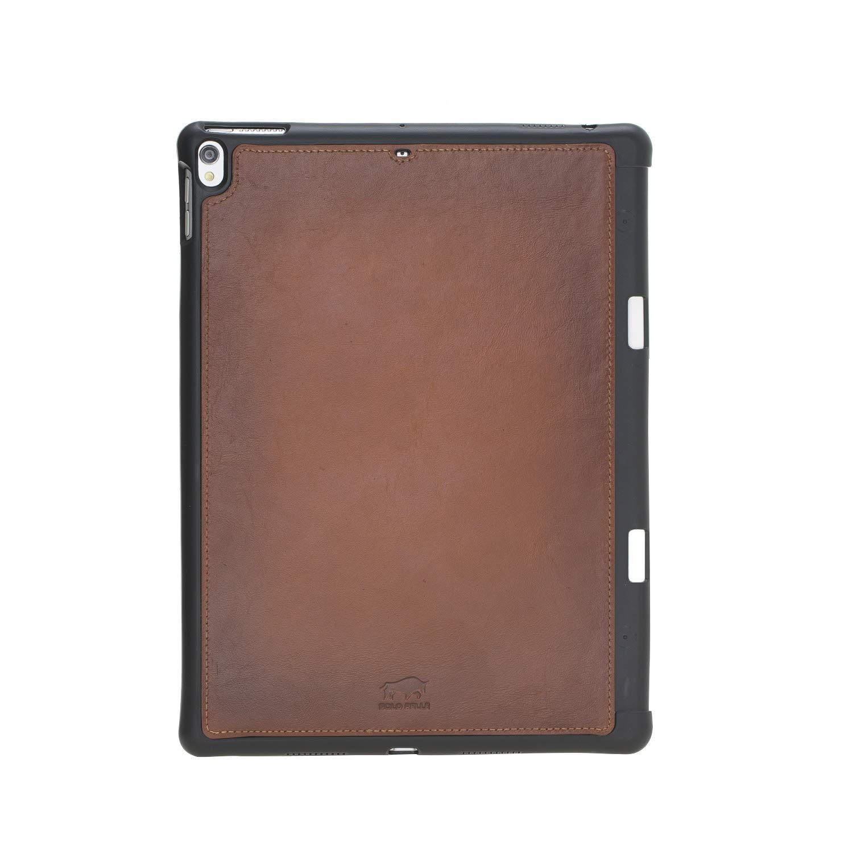 "Solo Pelle magnetische abnehmbare Lederhülle Harvard geeignet für Apple iPad Air 3 2019 & iPad Pro 10.5"" Hülle Cover Case Cognac-Braun aus echtem Leder mit Stifthalter. Dünnes Echtleder Case Schutzhülle Tasche (Cognac Braun Burned)"