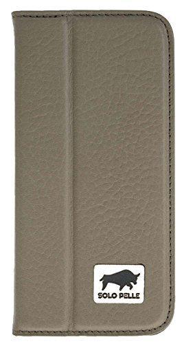 """iPhone SE / 5 / 5S Hülle - """"Wallet"""" - Floater-Taupe aus Leder"""