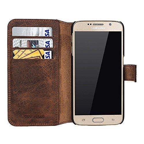 Walletcase (Samsung S6, Vintage Braun)