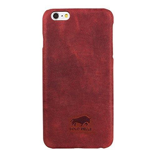 "iPhone 6/6S Hülle - ""Yale"" - Vintage Rot aus Leder"
