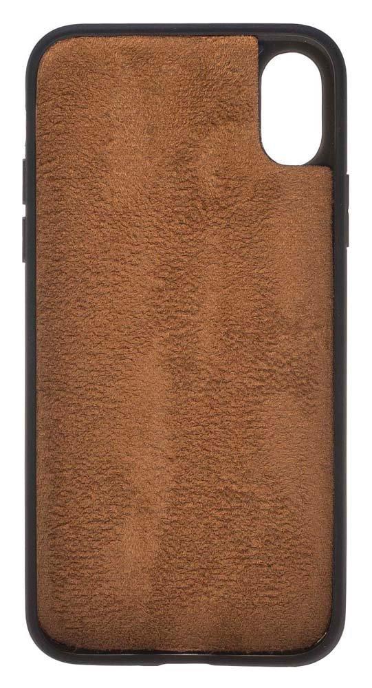 929185a0df9881 iphone X   XS Hülle - Geldbörse inkl. 12 Kartenfächer - Cognac Braun ...