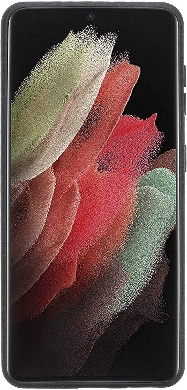 Solo Pelle Lederhülle für das Samsung Galaxy S21 5G in 6.3 Zoll Hülle aus echtem Leder, Model: Stanford (Nude Rosa)