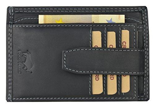 """Geldbörse """"5086"""" in Vintage Schwarz mit Kleingeldfach"""