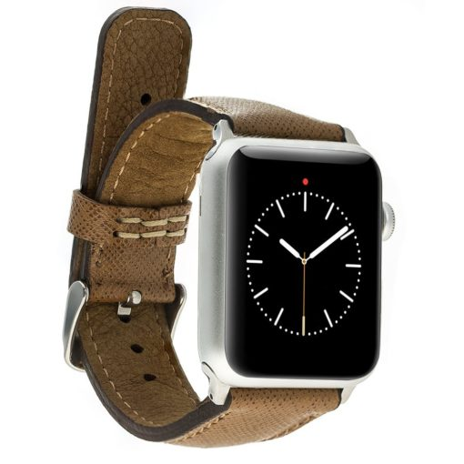 Apple Watch Lederarmband 38mm / 40 mm in Saffiano Braun