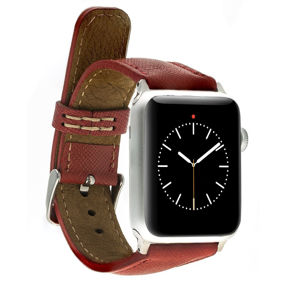 Apple Watch Lederarmband 38mm / 40 mm  in Saffiano Rot