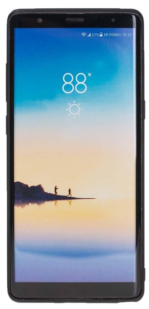 "Samsung Note 8 Leder Hülle "" Flex "" aus echtem Leder in Cognac Braun"